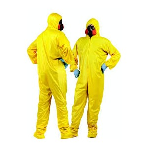 Indonesia Supply/Jual/Supplier - YELLOW HAZMAT SUIT (COVERALL KUNING