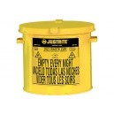 Justrite 09200Y - Countertop Oily Waste Can (2 Gallon) Yellow