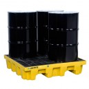 JUSTRITE 28636 Yellow (4 Drum Spill Deck Containment Pallet)