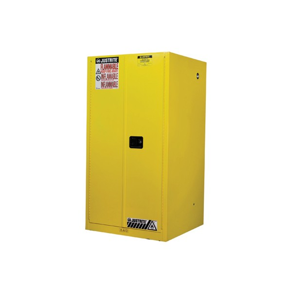 ... JUSTRITE 896000 Yellow Flammable Safety Cabinet (Storage) 60 Gallon