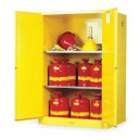 JUSTRITE 894500 Yellow Flammable Storage Cabinet (Safety)