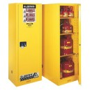 JUSTRITE 892220 22 Gallon (83 Liters) Cabinet/ Storage Self Closing Yellow Flammable Slimline Sure-Grip EX